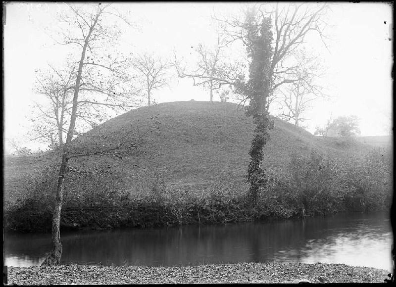Motte du moulin et tour - Arjuzanx (Landes) (Titre attribué)