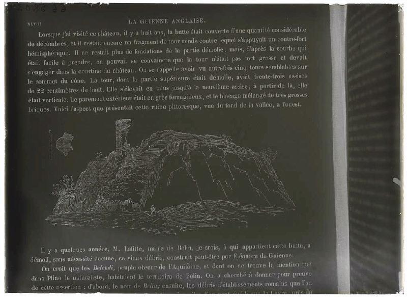 Reproduction 'Guienne Militaire' - Ruine de Belin (Gironde) (Titre attribué)_0