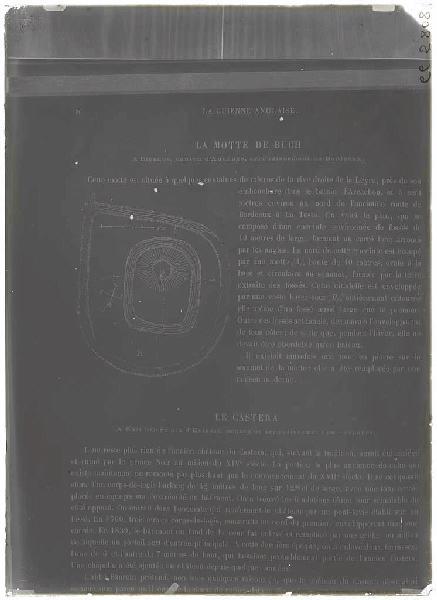 ARNAUDIN Félix (photographe) : Reproduction 'Guienne Militaire' - Motte du Buch (Biganos) (Titre attribué)