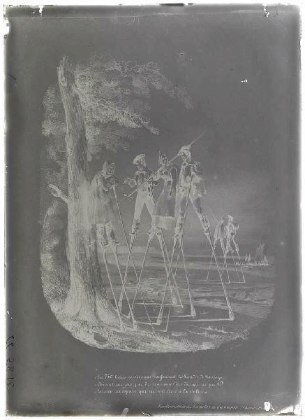 ARNAUDIN Félix (photographe) : Reproduction d'une gravure du livre de Deschamps (Titre attribué)