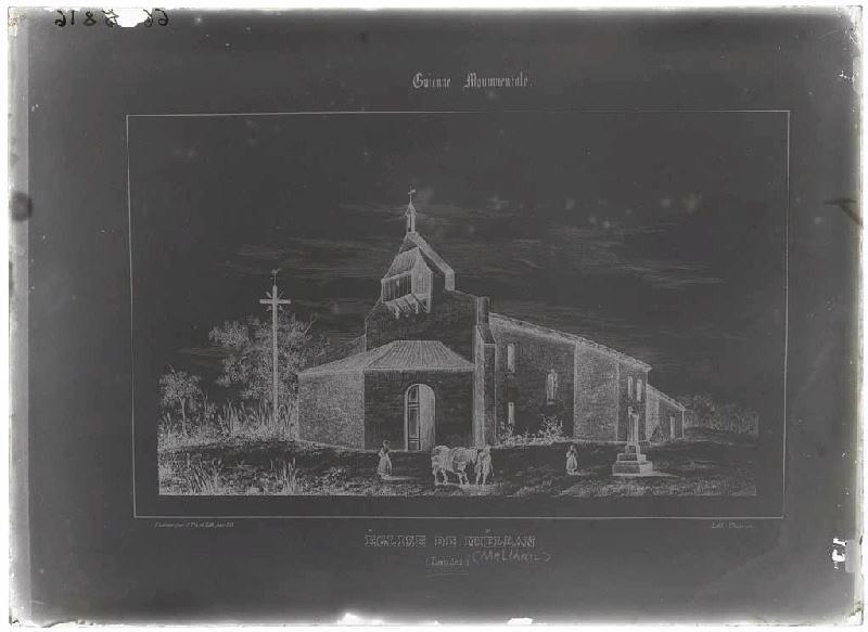 Reproduction de l'église de Meilhan (Guienne Monumentale) (Titre attribué)_0