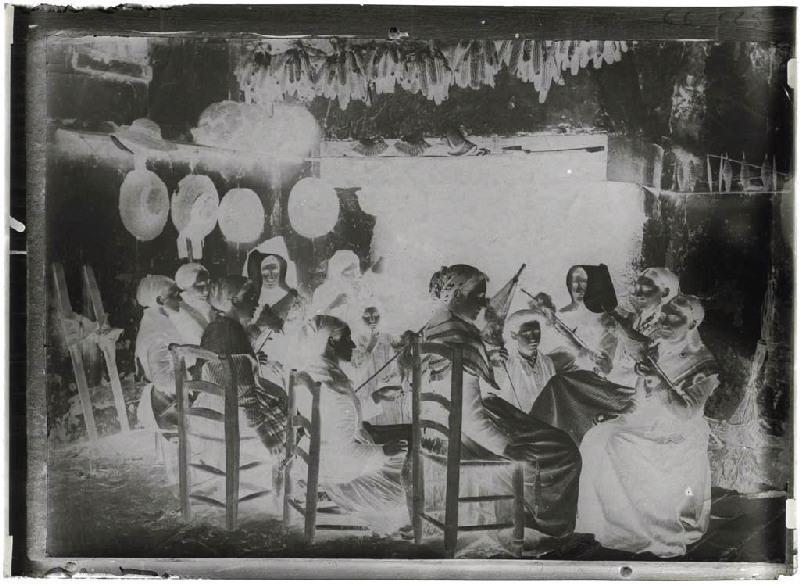 ARNAUDIN Félix (photographe) : Reproduction phototype de fileuses - Labouheyre (Landes d) (Titre attribué)