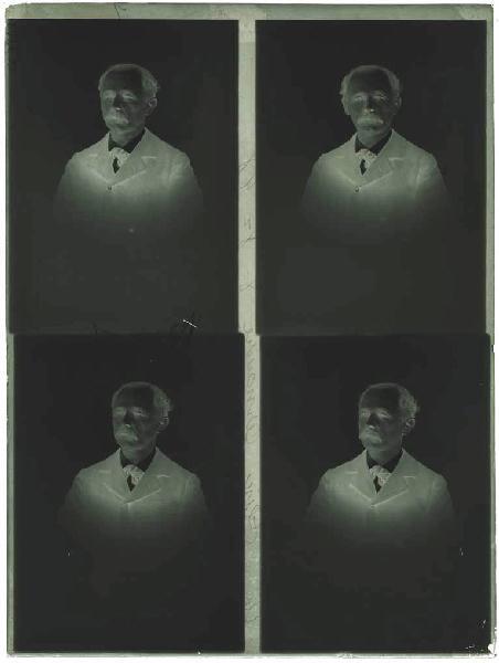 plaque de verre : Quatre portraits de Félix Arnaudin