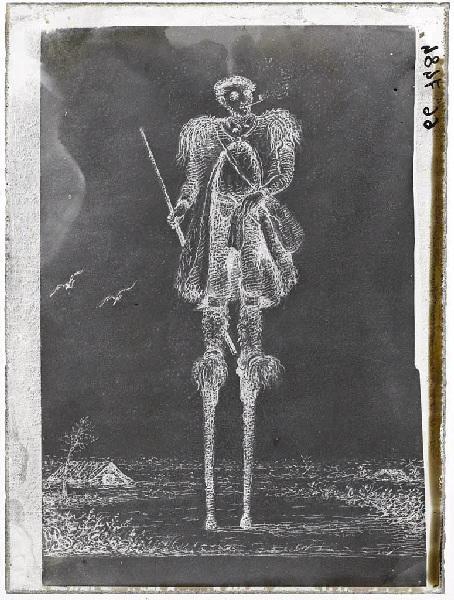 Reproduction d'une gravure de berger échassier_0