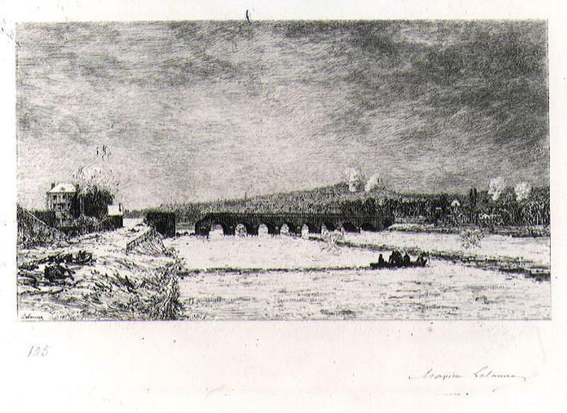 Le pont de Sèvres pendant le siège de Paris