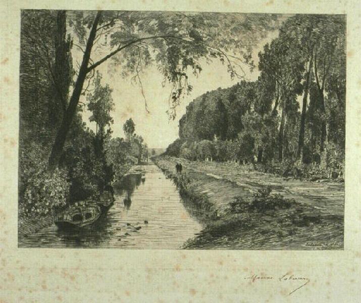 Le canal Saint Martin à Pont-Sainte-Maxence