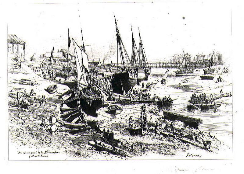 Un vieux port de Normandie : Trouville (Marée Basse)_0