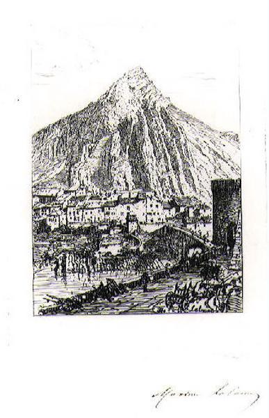 Le rocher de Sisteron