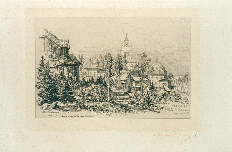 Le palais algérien du Trocadero. Exposition Universelle de 1878_0