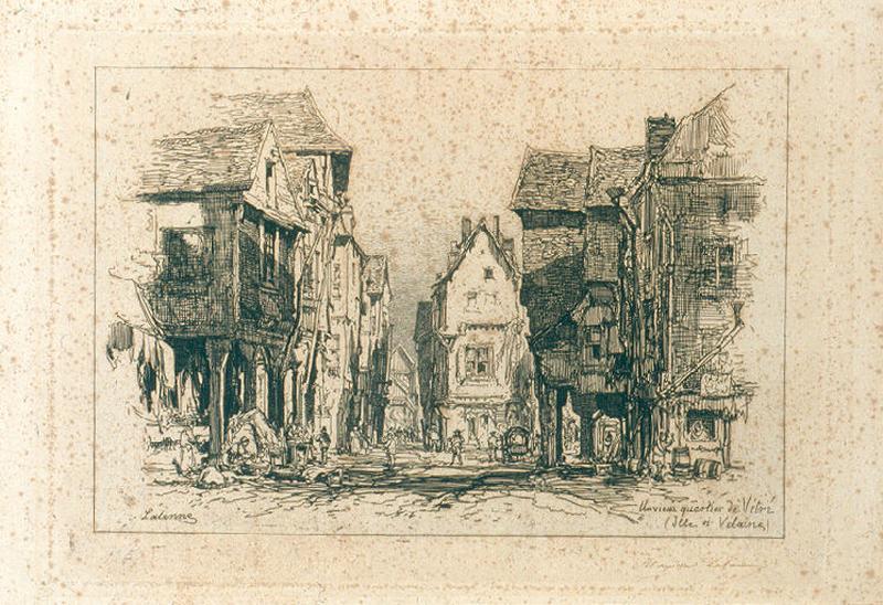 Un vieux quartier de Vitré (Ille-et-Villaine)_0