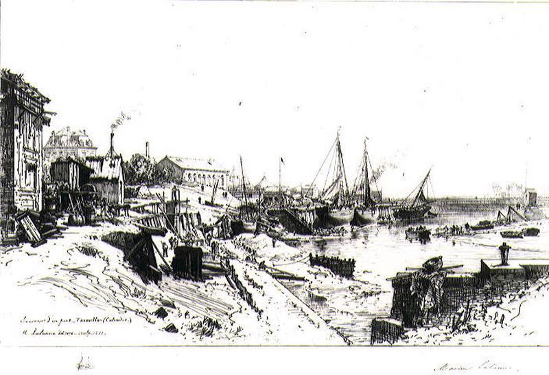 Souvenir d'un port. Trouville (Calvados)