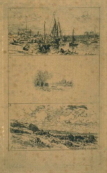 Trouville (en haut) ; Paysage au bord de l'eau (au milieu) ; Plage de Villers (en bas)_0