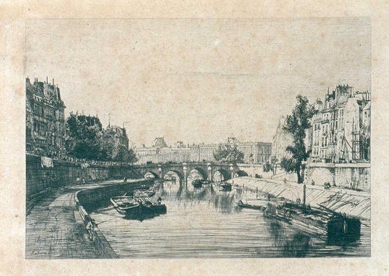Vue prise du Pont Saint-Michel_0