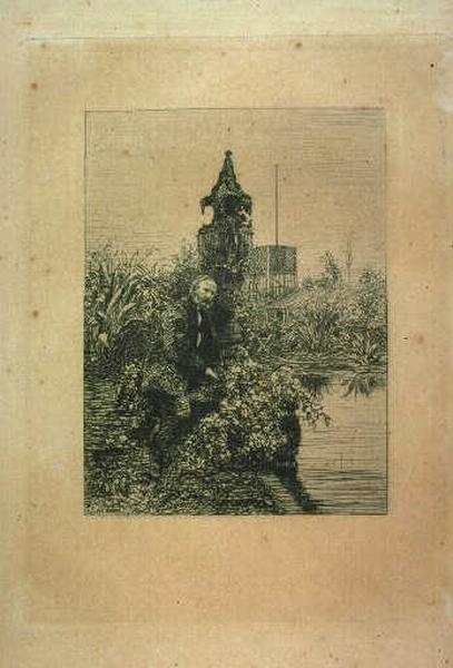 Victor Hugo dans son jardin_0