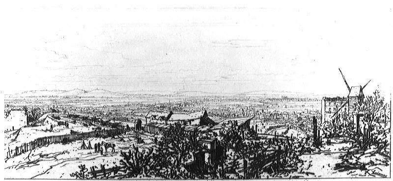Bastion de Montmartre, vue prise du phare Bazin_0