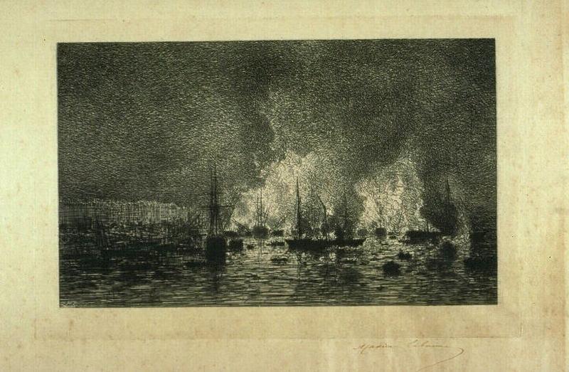 Incendie dans le port de Bordeaux_0