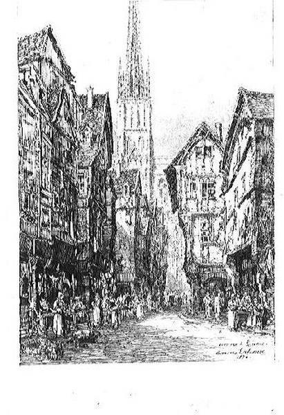 Une rue de Rouen
