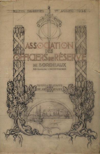 Projet de couverture pour le bulletin trimestriel de l'Association des officiers de réserve de Bordeaux_0