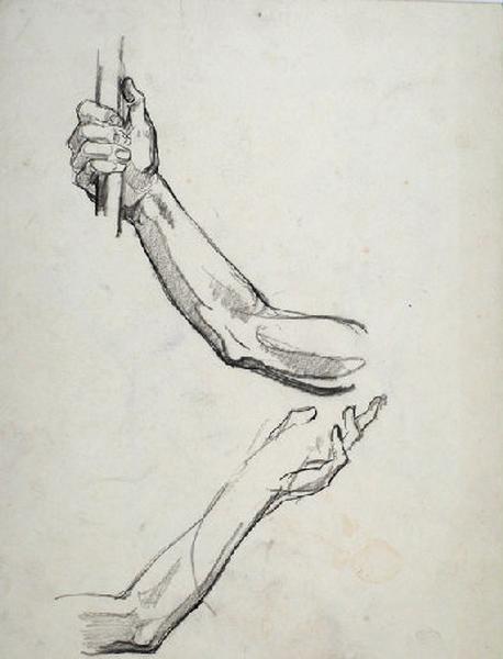 Etudes de mains tenant un objet_0