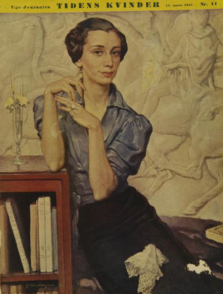 Couverture d'un journal suédois avec le portrait de Françoise Bégaud_0