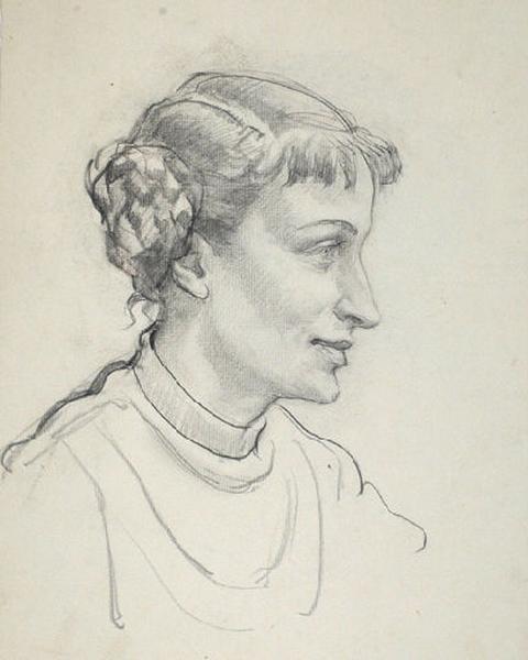 Portrait de Françoise aux macarons