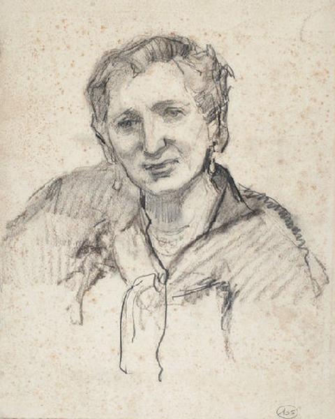 Etude pour le portrait de madame Gaspart_0