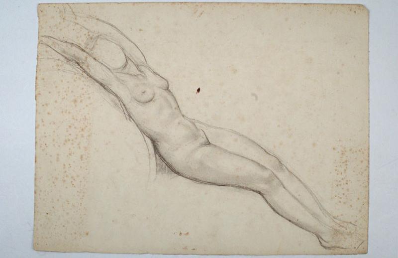 Etude de nu féminin la tête entre les bras_0