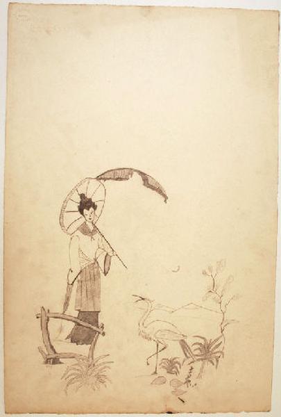 Jeune japonaise à l'ombrelle_0