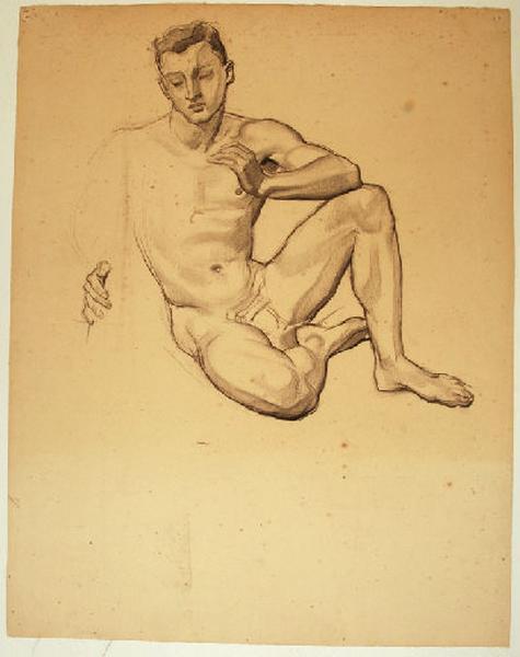 Etude de nu masculin pour L'arbre de vie_0