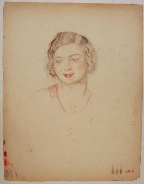 Etude pour un portrait de jeune femme