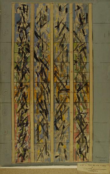 Maquette des vitraux de la chapelle des Sourdes-Muettes à Gradignan_0