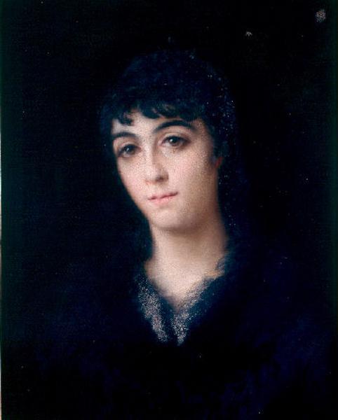 Portrait de Marguerite Marly en noir