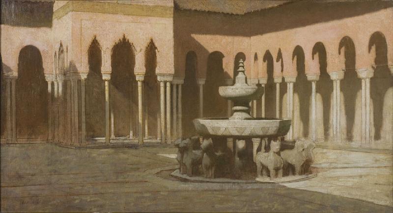 La cour des Lions à l'Alhambra de Grenade_0