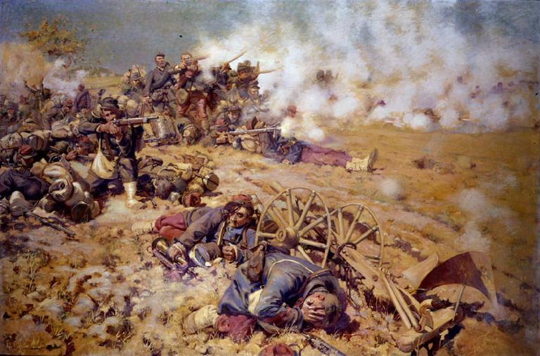 La Ligne de feu, épisode de la bataille du 16 août 1870 à Rezonville_0