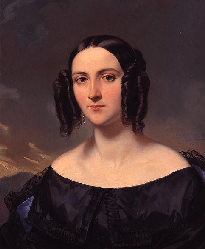 DEVERIA Eugène : Portrait présumé de Madame Courcier