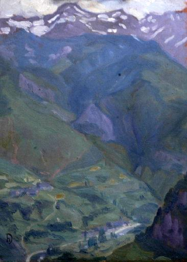 DAMELINCOURT Hubert : Le Pic de Sesque, ciel gris