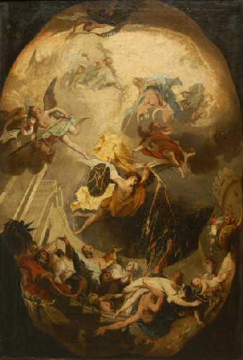 BORTOLONI Mattia (attribué à) : L'Ordre dominicain terrassant l'hérésie