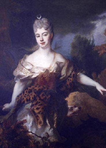 Portrait de femme en Diane, dit à tord Mademoiselle de Barral_0