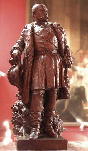MILLET DE MARCILLY Edouard François : Réduction de la statue du Maréchal Bosquet