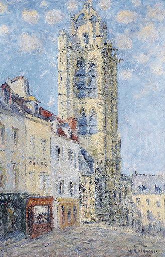 LOISEAU Gustave : Clocher de l'église Saint-Maclou à Pontoise