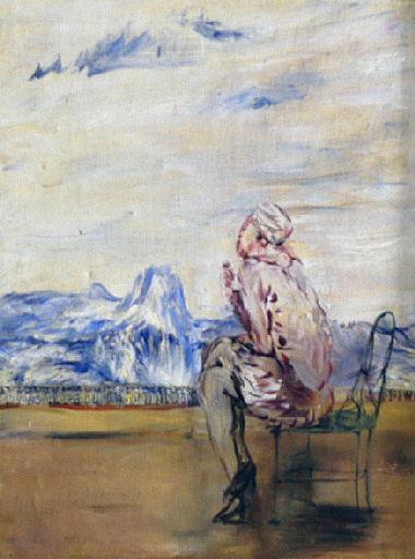 Femme assise à la terrasse_0