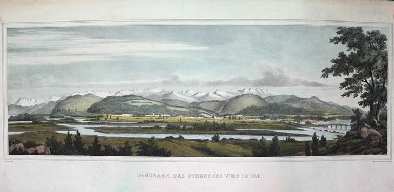 Panorama des Pyrénées vues de Pau_0