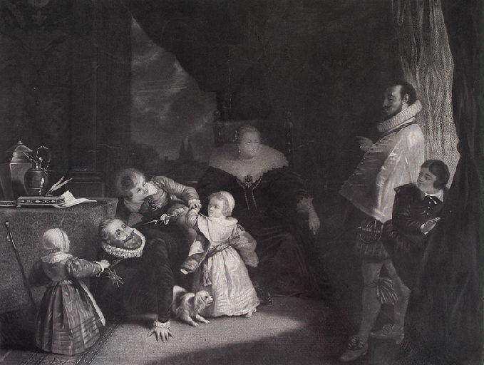 Henri IV jouant avec ses enfants (titre factice)_0