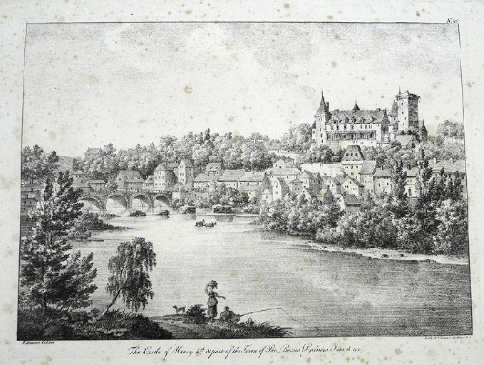 The Castle of Henry 4th & part of the Town of Pau, Basses