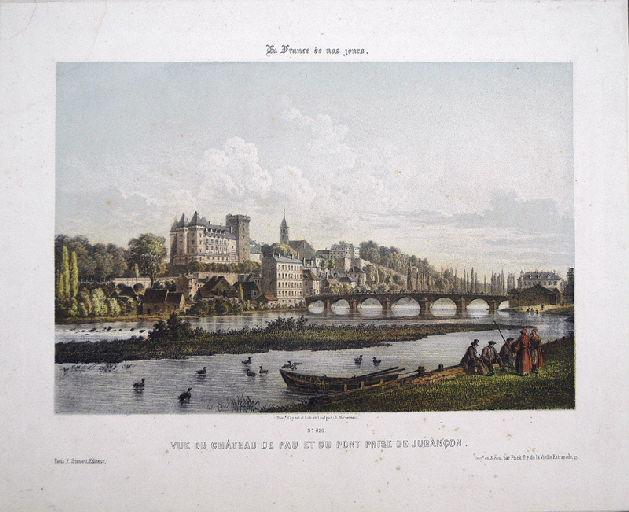 Vue du château de Pau et du pont prise de Jurançon_0