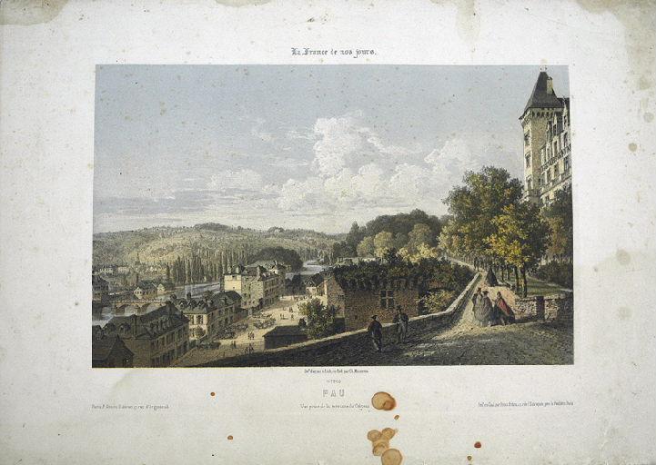 Pau, vue prise de la terrasse du Château_0