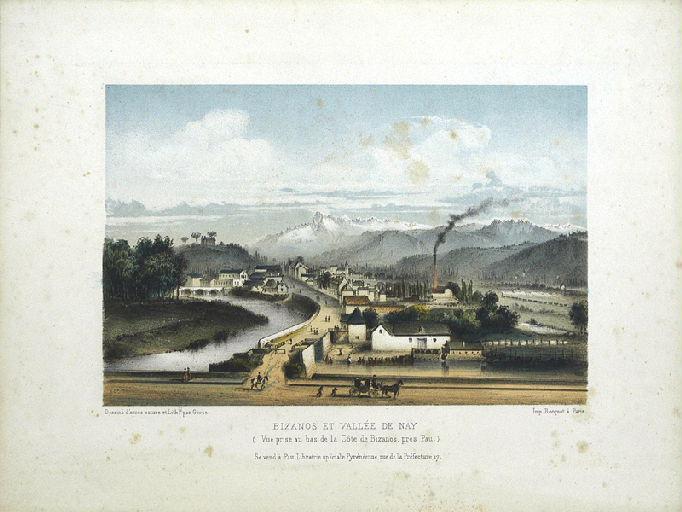 Bizanos et Vallée de Nay, vue prise de la Côte de Bizanos, près de Pau_0