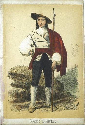 Eaux-Bonnes, homme avec un harpon (titre factice)_0