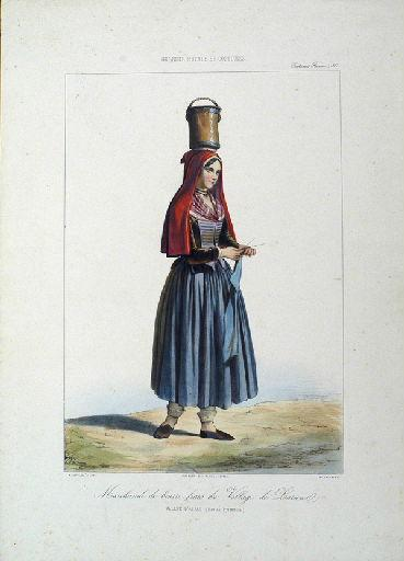 Marchande de beurre frais du village de Laruns