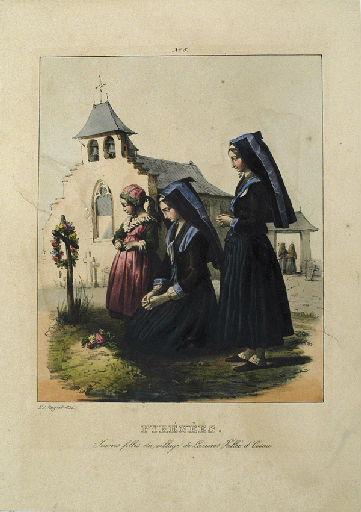 Pyrénées, jeunes filles du village de Laruns